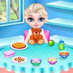 Baby Elsa In Kitchen