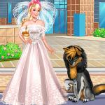 Barbie With Little Wolfhound