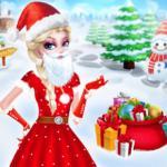 Christmas Elsa As Santa