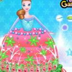 Frozen Princess Gown Cake Decor