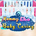 Mommy Elsa Baby Caring