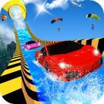Water Slide Car Racing Adventure 2020